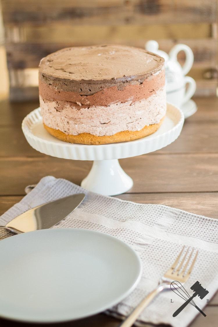 Schokoladen Ombre Cheesecake 1