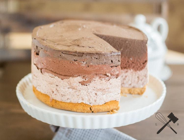 Schokoladen Ombre Cheesecake 5