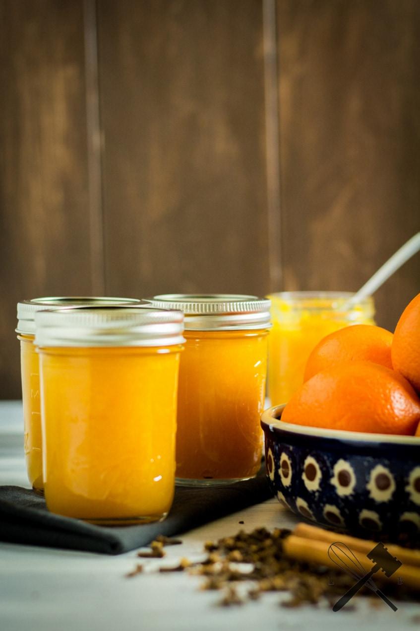 Orangenmarmelade mit Zimt und Nelken