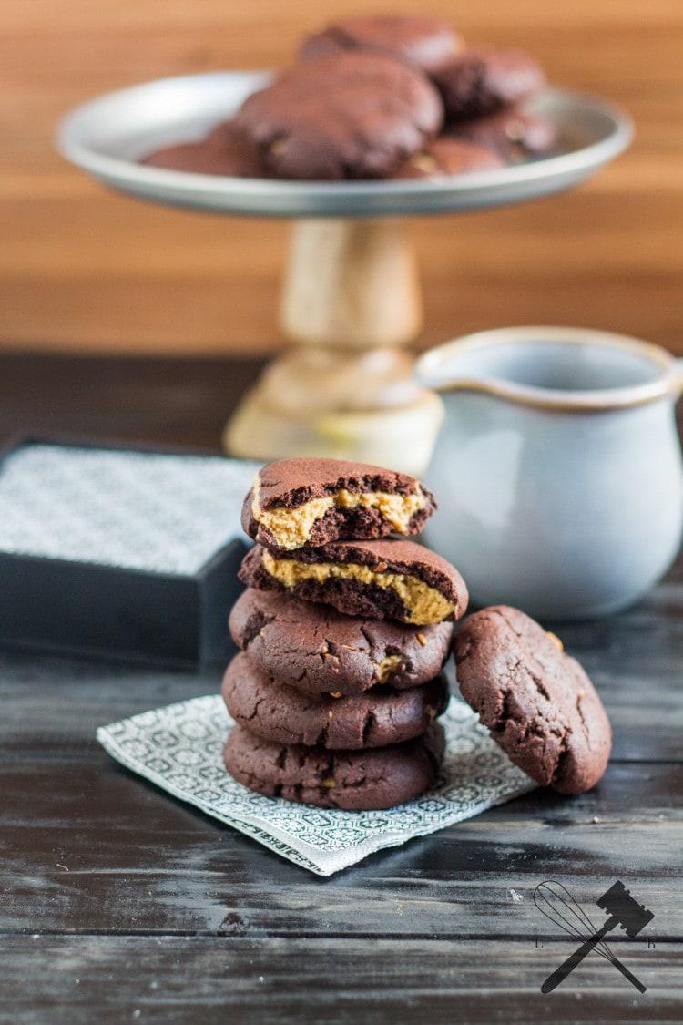 Schoko Erdnussbutter Cookies 2