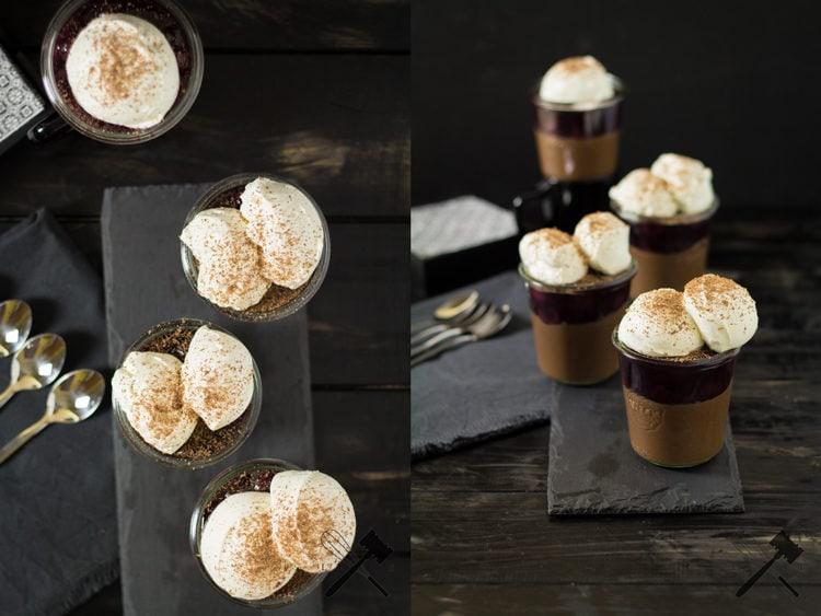 Schwarzwälder Kirsch Pots de Crème