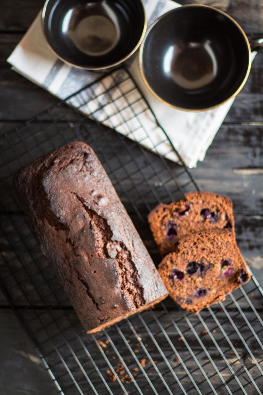 Schokoladen Heidelbeer Kastenkuchen
