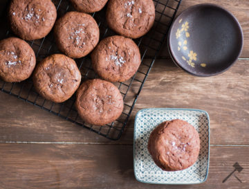 Schokoladen Cookies mit Nutellafüllung