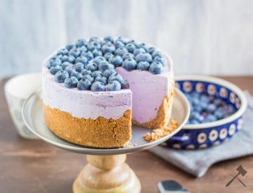 No-Bake Heidelbeer Cheesecake