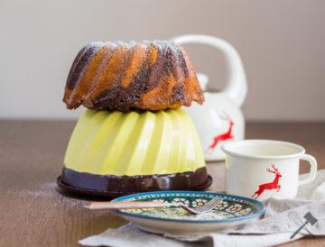 Klassischer Marmor-Rührkuchen