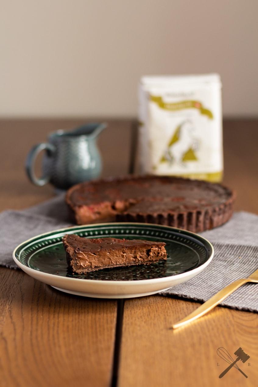 Schokoladen Himbeer Custard Tarte