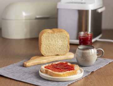 Toastbrot mit schneller Erdbeermarmelade